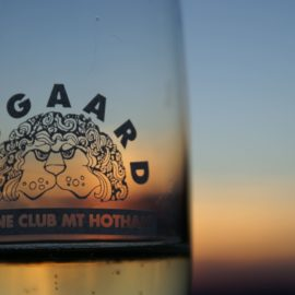 Through a glass of Australia's finest bubbly the superb sunsets viewed from the balcony